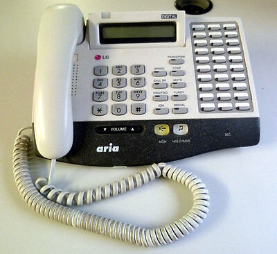 LG Aria LKD-30D 30 Button Telephone in White - Immaculate