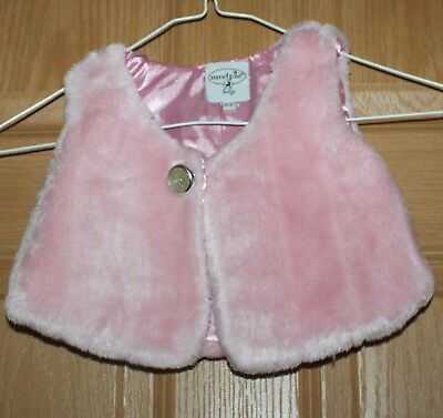 Mud pie baby size 2 and 3t pink coat sleeveless button vest