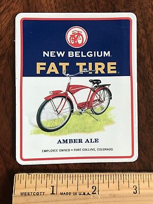 FAT TIRE Fort Collins NEW BELGIUM BREWERY BEER STICKER Colorado Brew Brewing CO