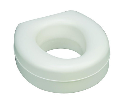 HealthSmart Deluxe Plastic Elevated Toilet Seat w/ Slip-Resistant Pads, White