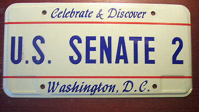 1993 Washington D.c. District Of Columbia U.s Senate # 2 Political License Plate