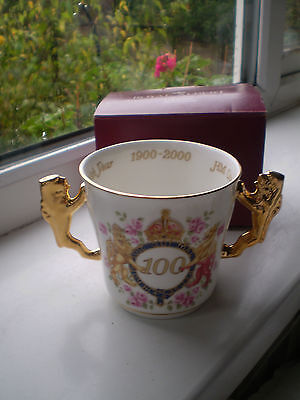 Royal Albert Loving Cup Queen Mother 100th Birthday Boxed Lionhead