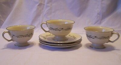 Pickard Windsor 1200 Cup and Saucer - Set of 3