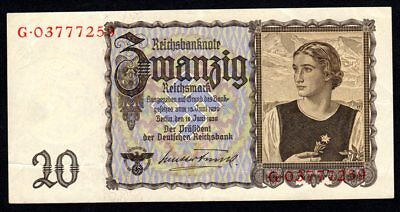 Billet de 20 Reichmark 1939 - Pick 185 - Superbe