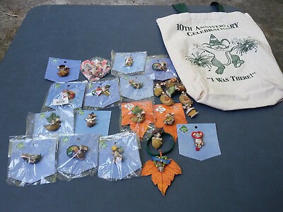 25 HARMONY KINGDOM DEAN GRIFF PINBACKS & SIGNED Convention Tote Bag