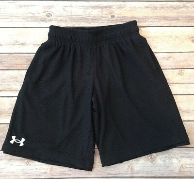 Boys Under Armour Brand Loose Fit Athletic Shorts Size Youth Small-Black