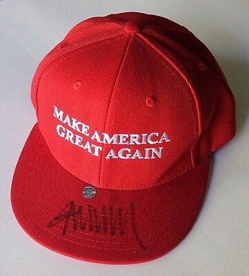 DONALD TRUMP signed Make America Great Again Hat Cap Authentic Autograph POTUS
