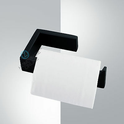 NEW Toilet Paper Holder Roll Matt Black Stainless Steel Bathroom Wall Mounted