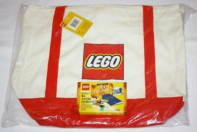 LEGO 5005326 Limited Edition Canvas Tote Bag 5004932 Minifigure Travel Pack NEW
