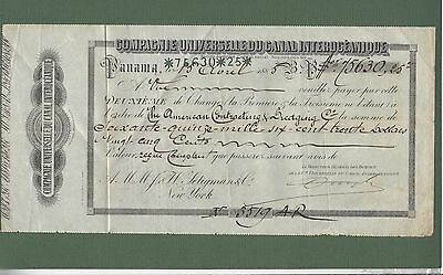 1885 Compagnie Univ Canal Interoceanique Panama - American Contracting Dredging