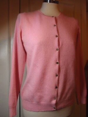 M & S Woman 100% Cashmere Pink Cardigan Sz L/UK 12