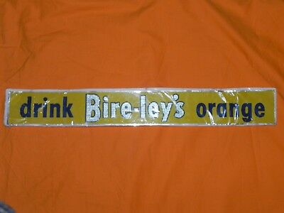 Bireley's Orange Drink Soda Metal Advertising Door Push Sign