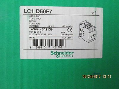 LC1D50F7 Schneider Electric Contactor 3 PH-70A- 110V NEW IN BOX