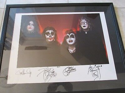 Kiss Signed 1974 -  Ace Frehley Peter Criss Gene Simmons Paul Stanley Rare