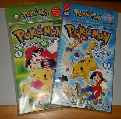 Viz Comics Pokemon Electric Tale of Pikachu Shocks Back manga sets