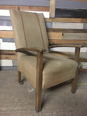 Retro Vintage Mid-Century Oak Arm Chair, Delivery Available