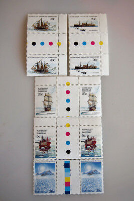 Assorted Antarctic Territory sets of GUTTER stamps....MNH