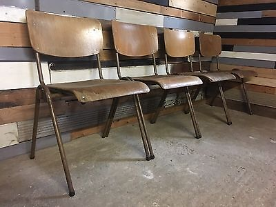 20 Vintage industrial Stacking School Cafe Restaurant Bar bistro dining Chairs