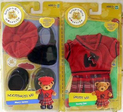 Hasbro Build-A-Bear Full Scotty Set & Accessories - 2004 - Mip - Only Ones!