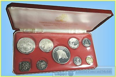 Bahamas :- 1975 Proof Set. contains 4 Large Silver Coins