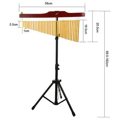 36-Tone Bar Chimes Single-row Wind Chime Percussion Instrument with Stand New
