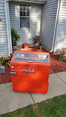 Super Cool Coca Cola Coke Upright Refrigerator Bottle Dispenser! COOL!