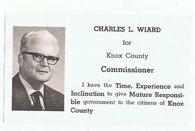 Vintage Charles Wiard Knox County Commissioner Ohio Political Campaign Brochure