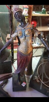 cast bronze dancing lady.