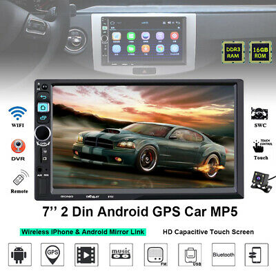 "7"" HD Android 2Din Car Radio Stereo GPS Navi WIFI MP5 Player Bluetooth iPhone"