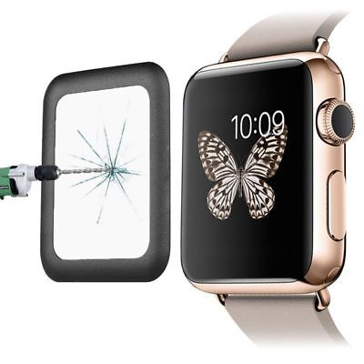 For Apple Watch 42mm 1/2 Gen Tempered Glass Screen Protector with Metal Bumper