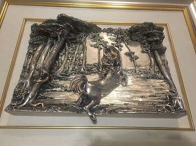 Sterling Silver Horse Framed Marchetti R800
