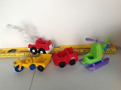 Fisher Price Little People Fire truck, Helicopter, and other vehicles