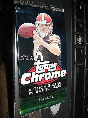 2014 topps chrome nfl guaranteed auto autograph card hot pack football 1 hit