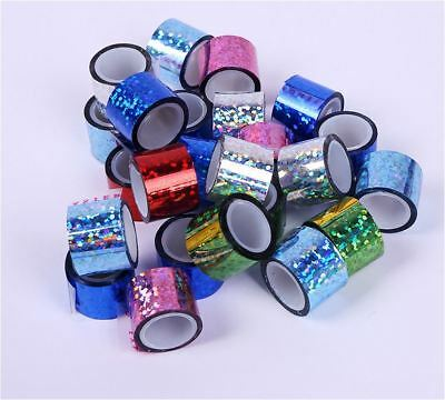 90Roll / Can Assorted Color 1.8cm x 1meter Laser Sticky Tape DIY Scrapbook Album