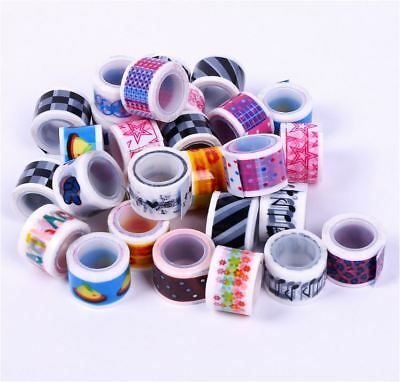 90Roll / Can Assorted Color 1.8cm x 1meter Sticky Tape DIY Scrapbook
