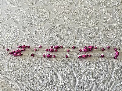 Hot Pink And Silver 70 Inch  Glass Bead Garland