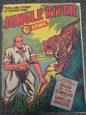 Jungle River - Pyramid comic #1 1946 Australian golden age vintage comic book