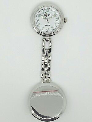 nurse beauticians fob watch by Boxx silver clip on F78