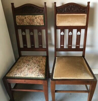 2 Antique High back chairs
