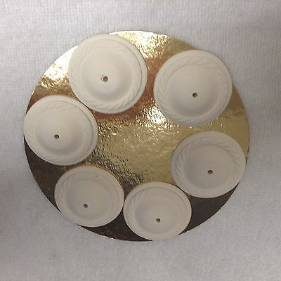 Dolls House  6 X Plaster Ceiling Roses 12th Scale