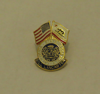 William Bill LANCASTER California State Assembly Pin