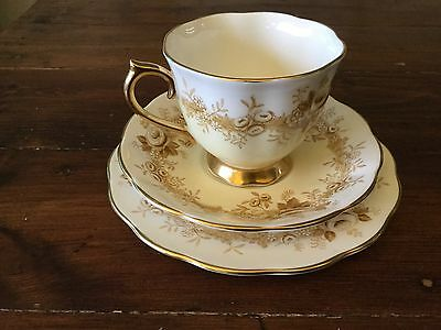 Vintage Royal Albert RUSSET ROSE Trio. Cup, Saucer and Plate.
