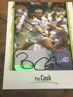 Pat Cash Tennis Australian tennis signed card from Ace Authentics Card