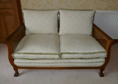 3 piece Bergere walnut antique suite in very good condition.