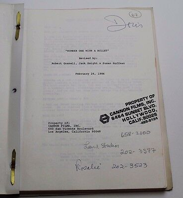 DORIS ROBERTS Personally Used 1986 Movie Script * Number One with a Bullet *