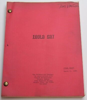 ENOLA GAY: The Men, the Mission, the Atomic Bomb * 1980 Movie Script Screenplay