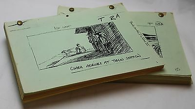 BACK TO THE FUTURE 3 * 1989 Original Storyboards from the TRAIN Scenes 430pgs
