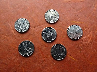 coins of Gibraltar, Jersey Guernsey, Isle of Man 5 p British 6 five pence Europe