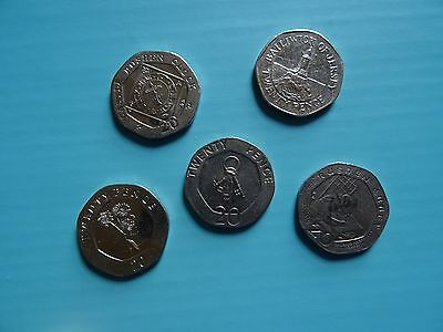 RARE 20 p coins of Gibraltar Jersey & Isle of Man / 20 pence - 5 coins of Europe