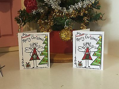 Miniature Christmas Cards  - Fairy Door Accessories - Christmas Elf